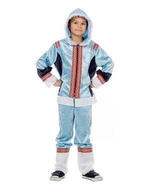 Blåt eskimo kostume til drenge
