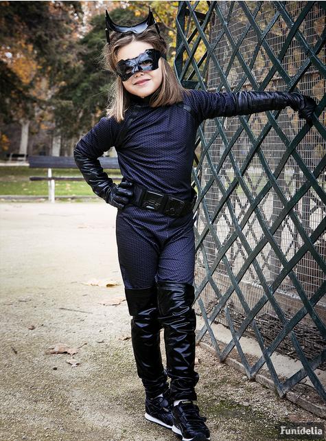 Fato de Catwoman deluxe para menina
