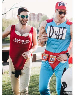 Harige Baywatch kostuum voor mannen