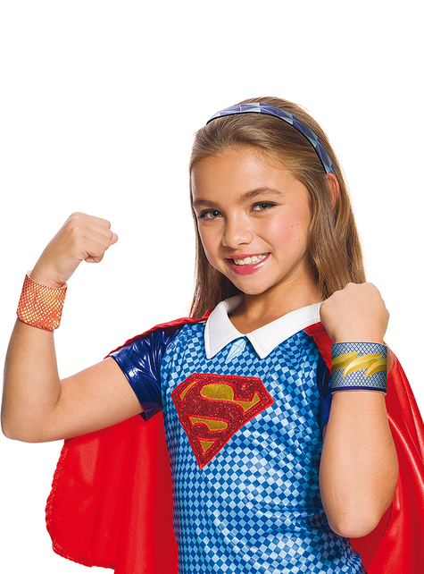 Kit complementos Super-girl DC Super Hero Girls para menina