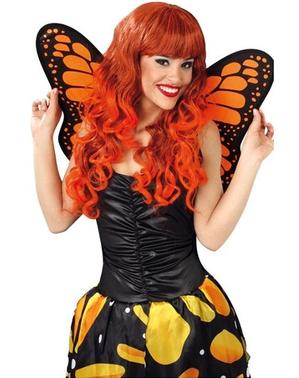 Asas de borboleta cor de laranja