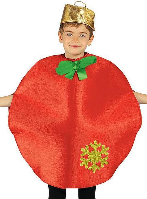 Disfraz de bola de navidad para niño