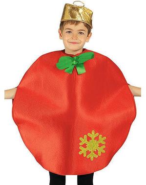 Fato de bola de Natal para menino