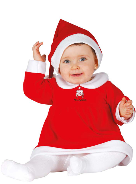 Disfraz de Mamá Noel adorable para bebé