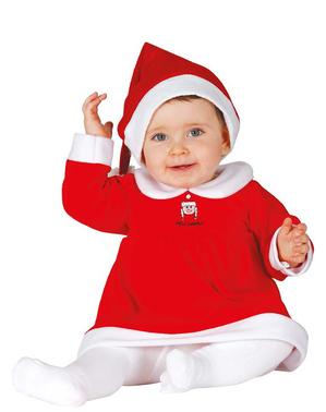 赤ちゃん愛らしい母のクリスマスコスチューム