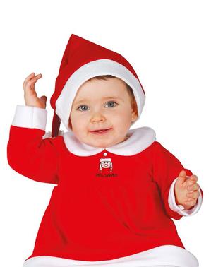 Skjønn mamma julenisse kostyme til baby