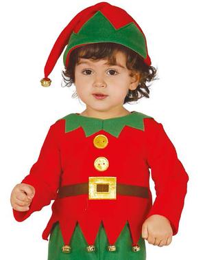 Disfraz de elfo navideño para bebé
