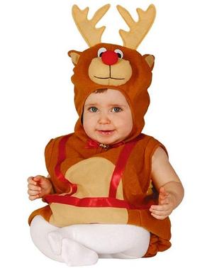 Fato de rena meiga para bebé