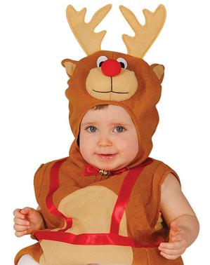 Vestito da renna neonato