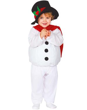 Schattig sneeuwpop kostuum voor baby