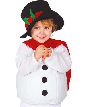 Fato de boneco de neve meigo para bebé