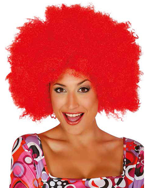 Perruque afro clown