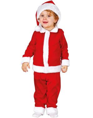 Costum Moș Crăciun simpatic pentru bebeluși