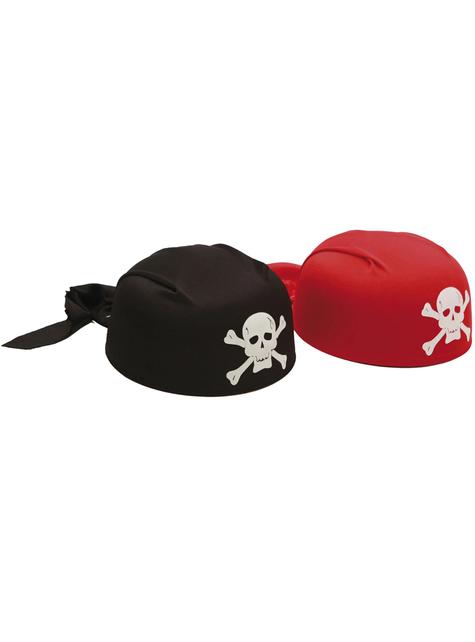 Bandana pirata roja para adulto