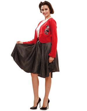 Disfraz de joven a la moda de los años 50 para mujer