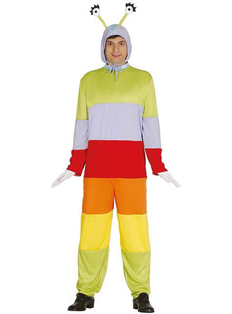 Adult's Multi-coloured Worm Costume