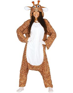 Costume da giraffa onesie per adulto