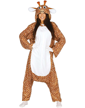 Giraff onesie maskeraddräkt för vuxen