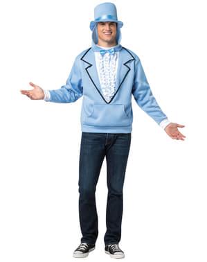 Blauwe Dumb and Dumber trui met capuchon voor volwassenen