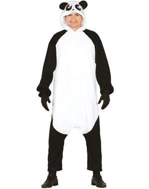 Costum de urs panda leneș onesie pentru adult
