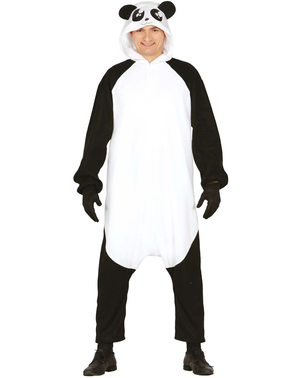 Pandabär Onesie Kostüm für Erwachsene