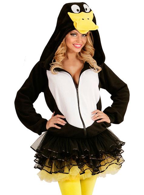 Adult's Happy Penguin Hoodie