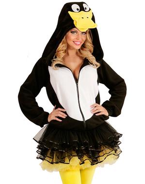 Дорослий щасливий пінгвін балахон