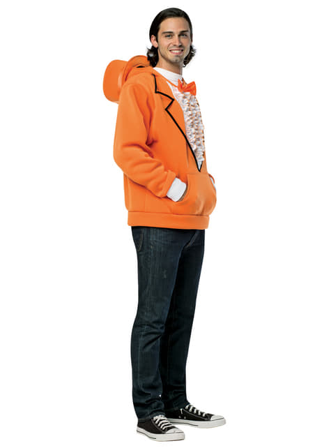 Dumb and Dumber Orange Hooded Jacket for Adults
