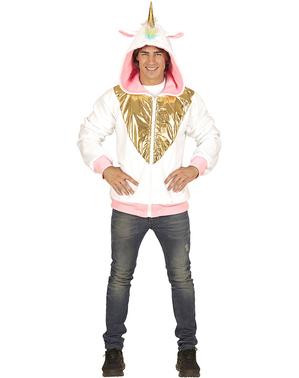 Einhorn Jacke mehrfarbig für Erwachsene große Größe