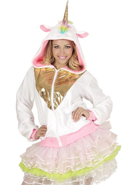Veste licorne multicolore adulte
