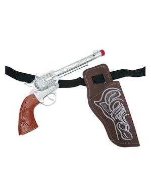 Revolver med fodral cowboy
