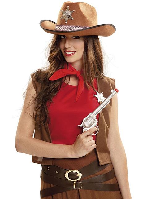 Revolver de coldre de cowboy