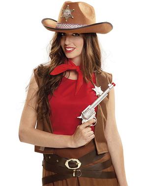 Rewolwer kowboja z pochwą