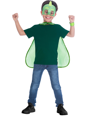 Gecko Kostüm-Set PJ Masks Pyjamahelden für Kinder