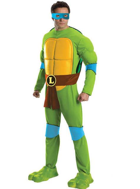 Ninja Turtles Leonardo Deluxe Maskeraddräkt Vuxen