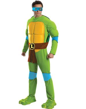 Ninja Turtles דלוקס לאונרדו למבוגרים תלבושות