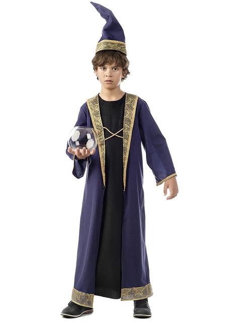 Strój czarodziej Merlin dla chłopca