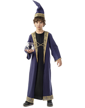 Magikeren Merlin Kostyme Gutt