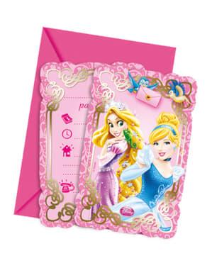 Комплект от 6 покани за принцеси и животни