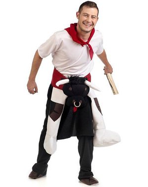 Carry Me Pamplona Bull Run Costume for Adults