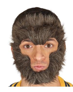 Pelo para la cara de hombre lobo para adulto