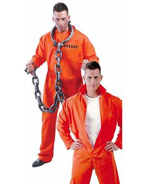 Verurteilter Kostüm orangener Overall