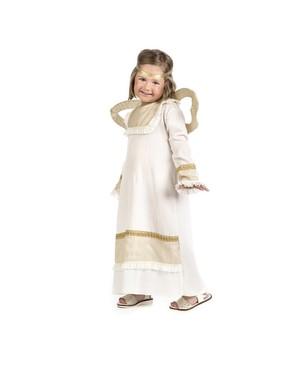 Maskeraddräkt ängel guldig barn