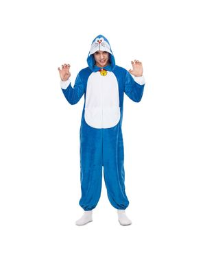 Doraemon Basis Onesie kostuum voor volwassenen