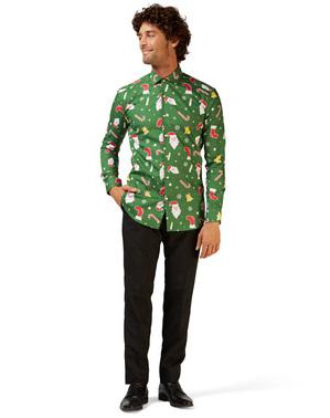 Зелений Різдво «Santaboss» Сорочка - Opposuits