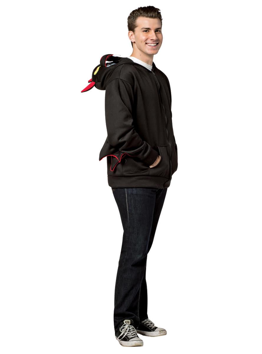 fledermaus sweatshirt mit kapuze f r erwachsene f r kost m funidelia. Black Bedroom Furniture Sets. Home Design Ideas