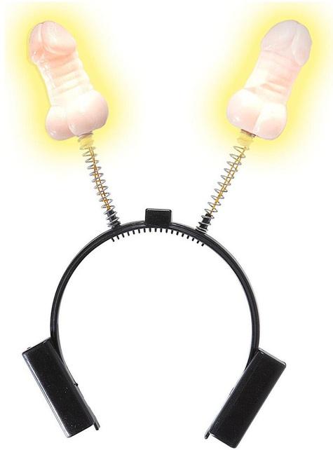 Bandolete de mini pénis luminoso para adulto