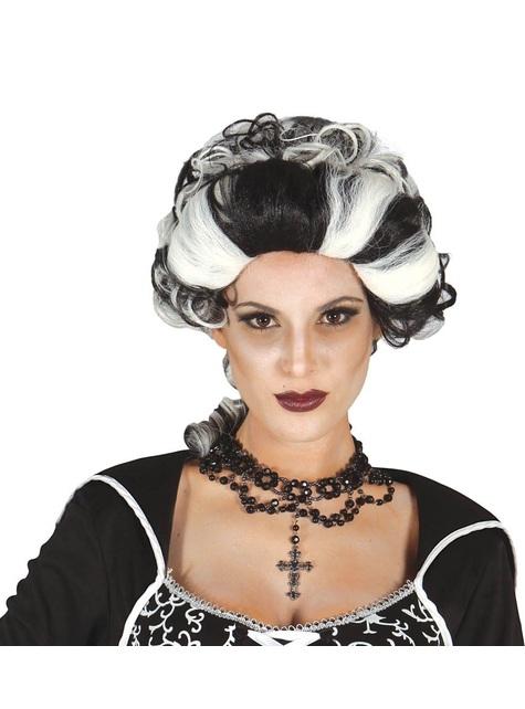 Peluca de marquesa vampiresa