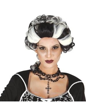 Vrouwelijke markies vampier pruik