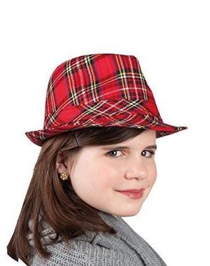 Chapeau écossais à carreaux enfant